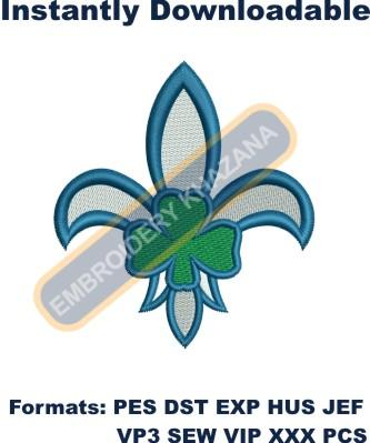 Irish scout embroidery design